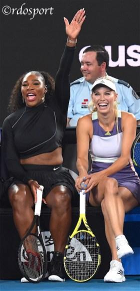 Serena Williams e Caroline Wozniaki foto di Roberto Dell'Olivo