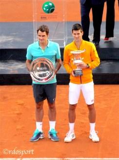 Djokovic e federer a Roma 2015