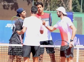 Primo turno ok per Sonego e Valvassori contro due ex numero uno del doppio, Melo e Rojer (foto di Roberto Dell'Olivo)