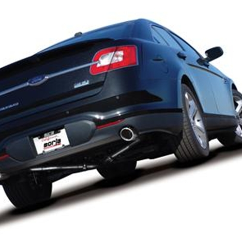 exhaust system cat back stainless steel natural polished tip ford 2010 taurus sho 3 5l