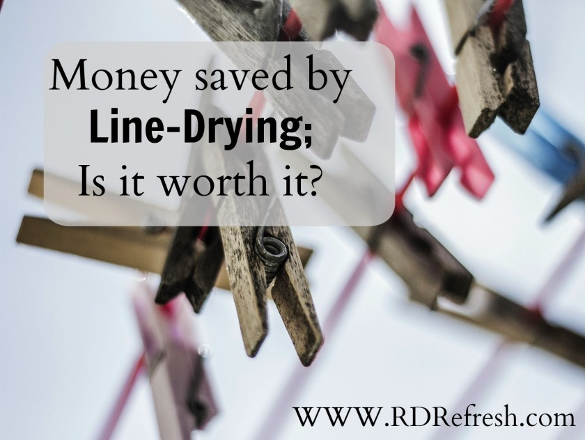 Money Saved by Line Drying