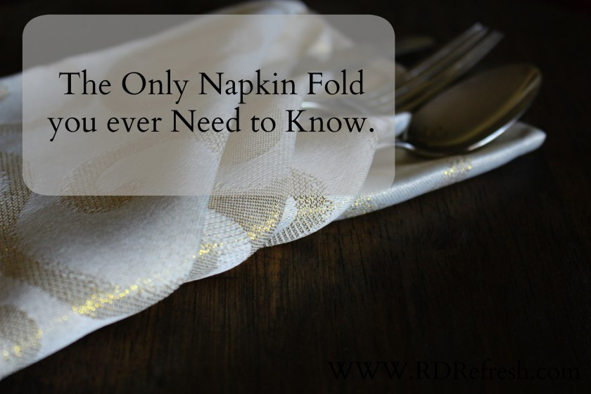 The only napkin fold you ever need to know