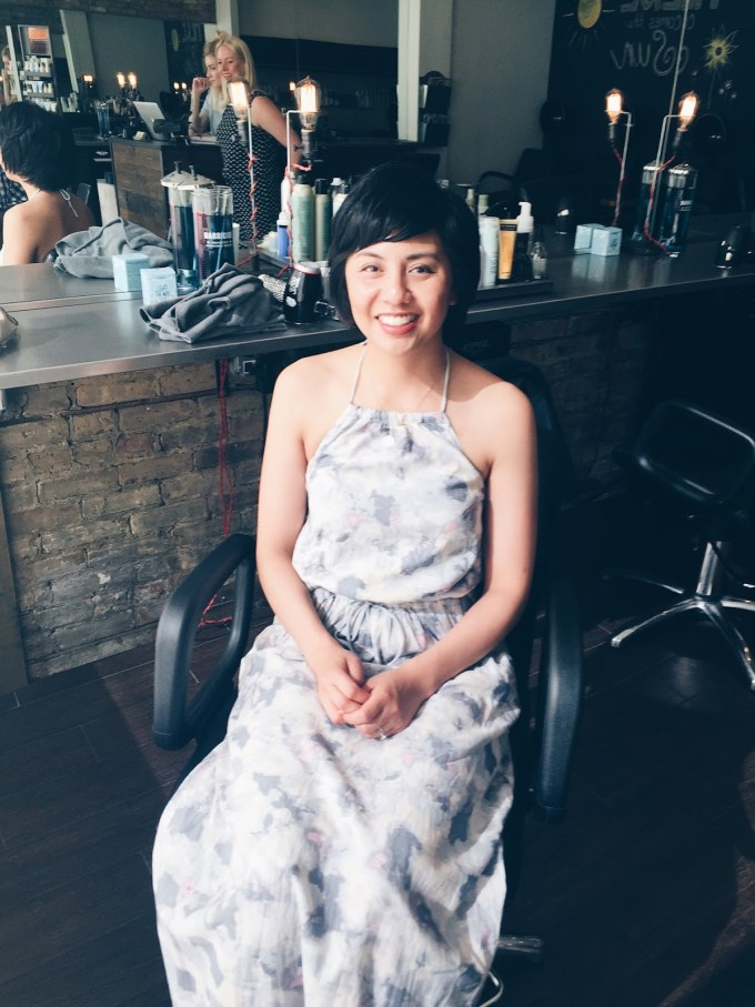 my first haircut post chemo - rd's obsessions