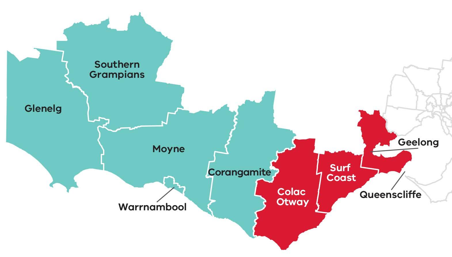 Victoria S Barwon South West Region