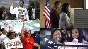 a colleague of smiling, happy, excited black supporters of President Trump. It's made up of images from different rallies around the country.