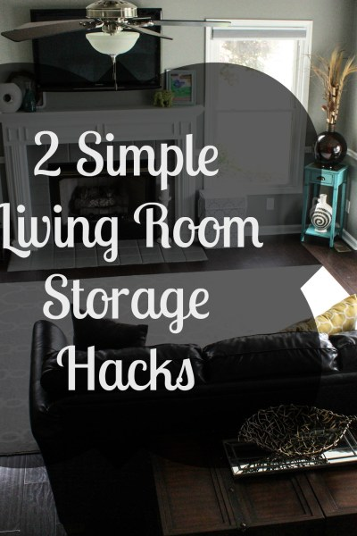 2 Simple Living Room Storage Hacks