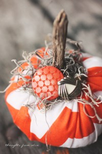 Fabric Embellished Pumpkin