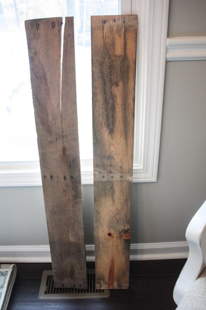 Pallet Boards used to make a JOY Pallet SIgn