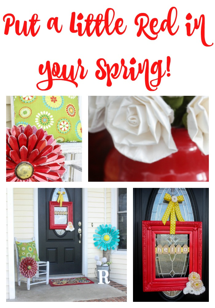 Gorgeous spring home tour featuring red and aqua! What a beautiful spring color combination!