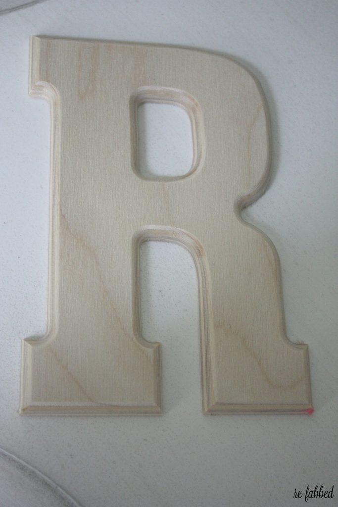 Framed Monogram with Scrapbook Paper