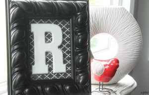 DIY Framed Monogram with Scrapbook Paper