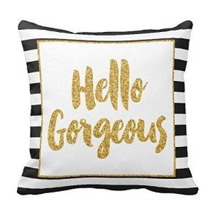 Hello Gorgeous Pillow Cover