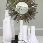 DIY Milk Vase Centerpiece