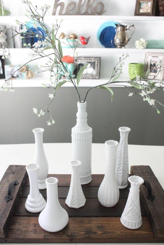 Milk Vase Centerpiece