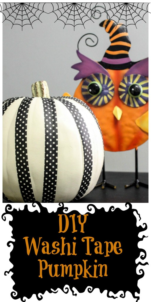 5 Minute DIY Washi Tape Pumpkin! This idea is SO easy and takes even less than 5 minutes to make- plus...when you are done- you can take the tape off and start fresh over and over again!