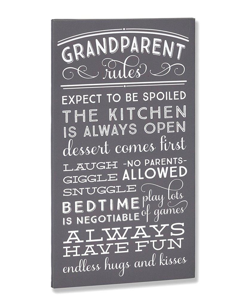 Grandparent Rules Sign