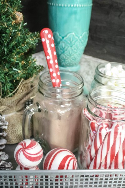 Hot to make a fun and simple Hot Cocoa Bar from Dollar Tree finds!