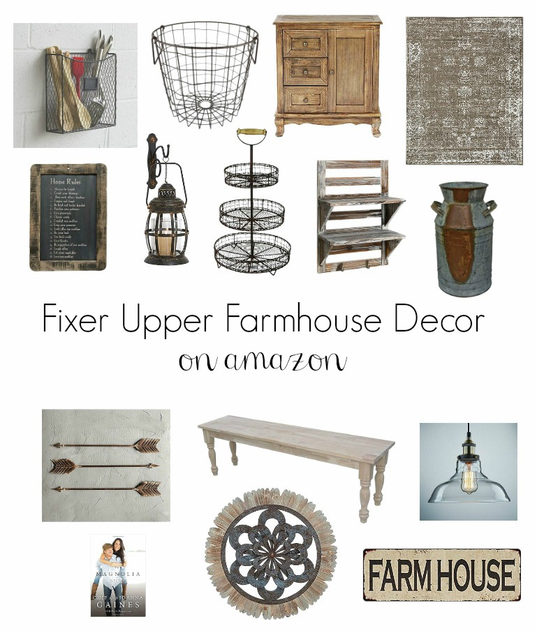 Amazing Farmhouse Fixer Upper Finds on Amazon! These gorgeous farmhouse pieces are sure to add that fixer upper look to your home.