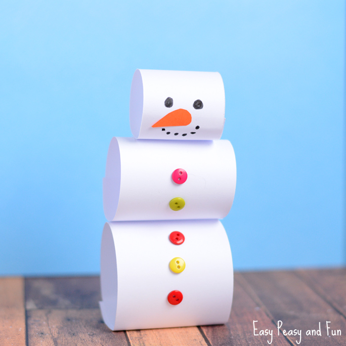 Simple Paper Snowman Craft