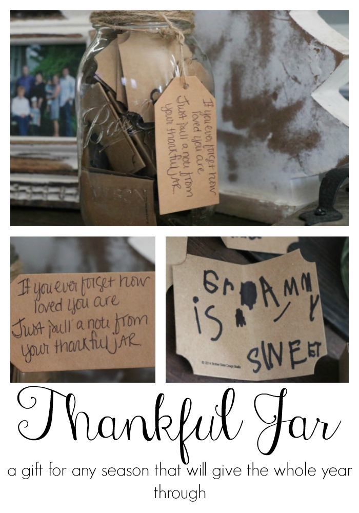 How to make a thankful jar to show your love and appreciate to the special people in your life. This is not just a Christmas gift, but ANY time of year gift. Everyone loves to feel loved and appreciated year 'round!