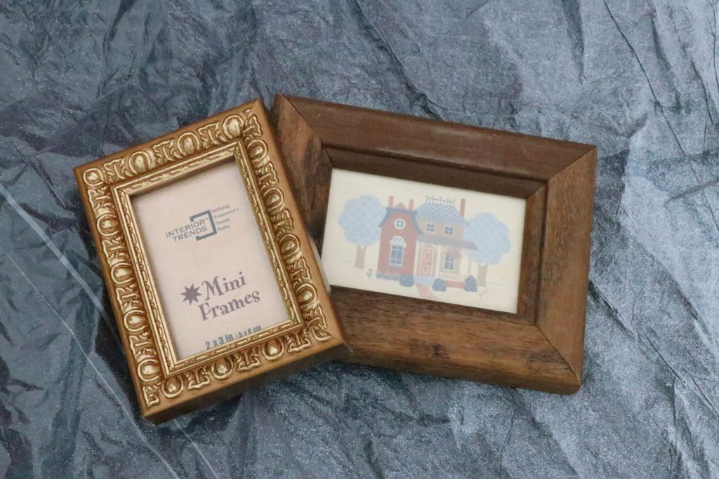 thrifted frame magnets-an easy diy project that ads major cuteness to your fridge!