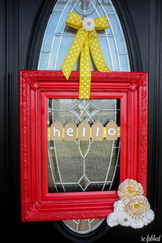 DIY Picture Frame Wreath from a thrift store frame
