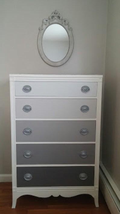 Gray Ombre Dresser Makeover