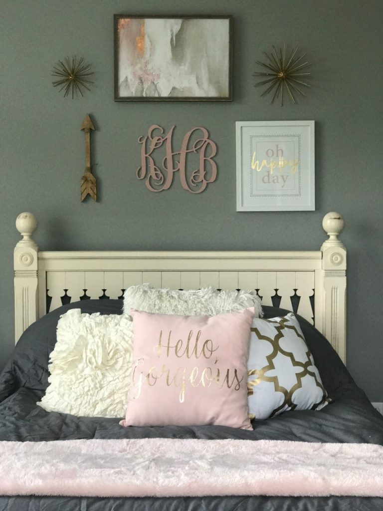 Blush And Gold Bedroom Makeover Re Fabbed