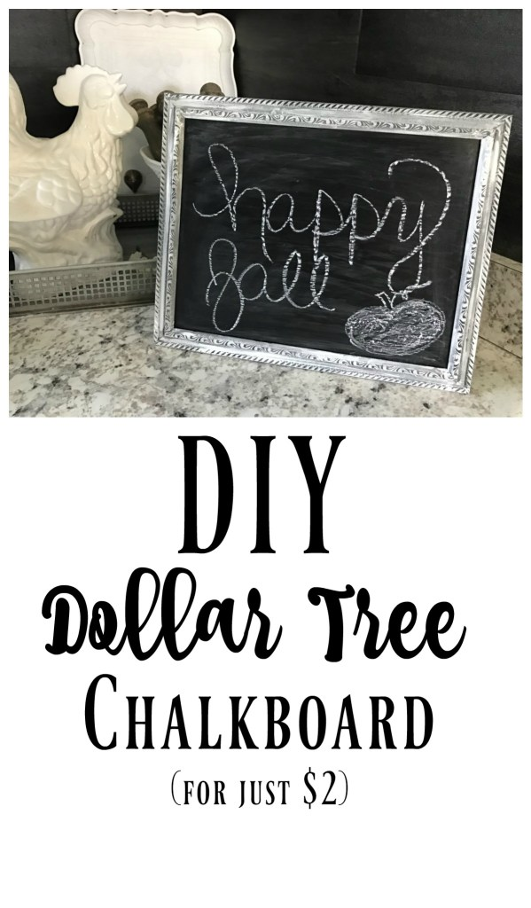 This DIY Dollar Tree Chalkboard is one of those fun and easy 5 minute projects that costs hardly anything!