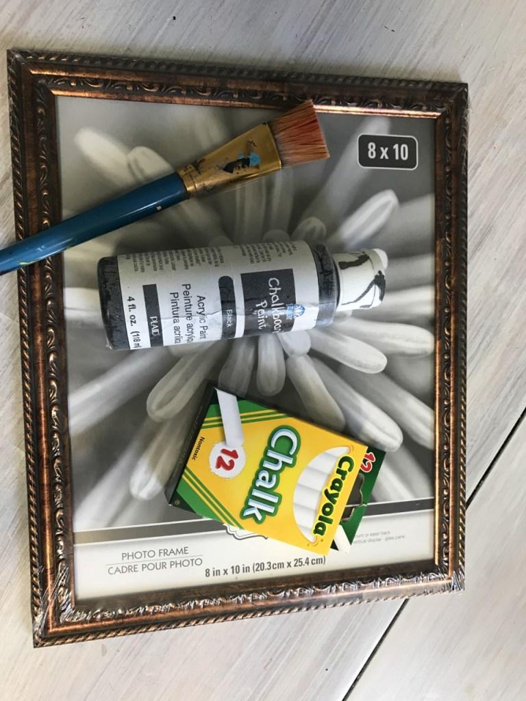 DIY Dollar Tree Chalkboard