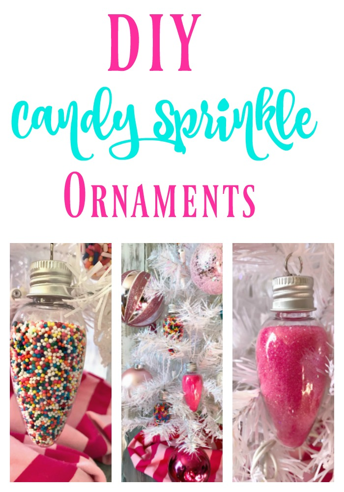 DIY Candy Sprinkle Ornaments!