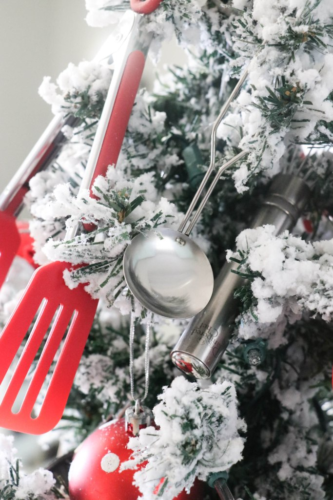 Fun and Festive Kitchen Christmas tree! Must check this one out! Her pieces are so fun and very budget friendly!