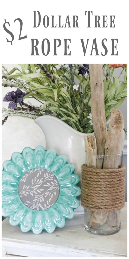 How to make a super easy and fast DIY Dollar Tree rope vase for just $2.00!