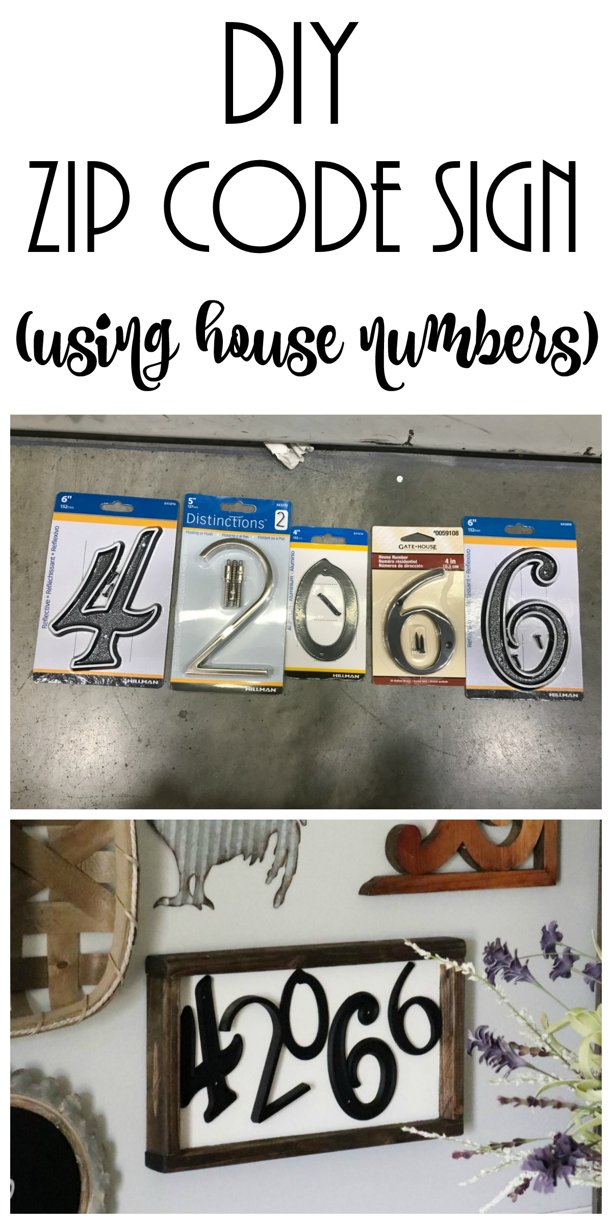 Diy Zip Code Wood Sign For Your Gallery Wall Re Fabbed