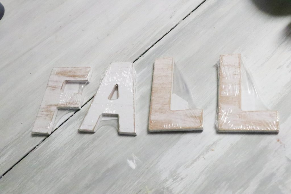 wooden letters that spell fall