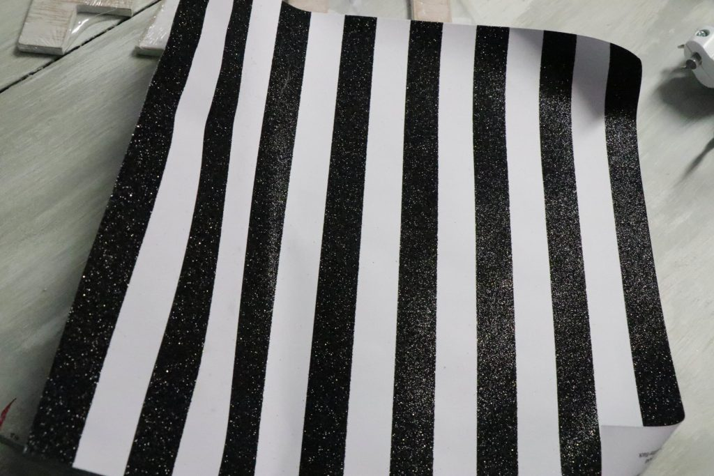 black and white glitter scrapbook paper