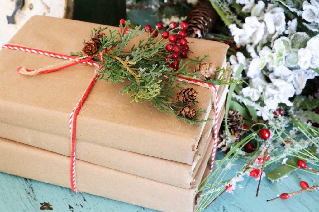 DIY Covered Books for Christmas decor