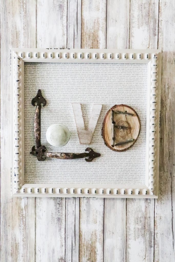 DIY Love sign using items from around the house