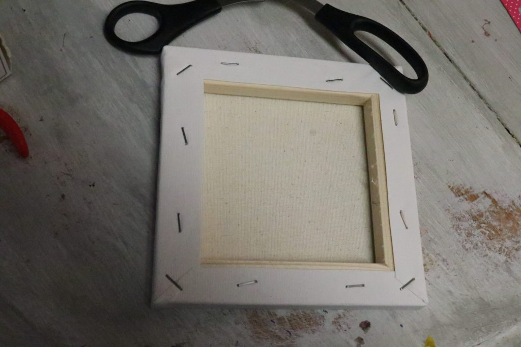 Diy reverse canvas decor