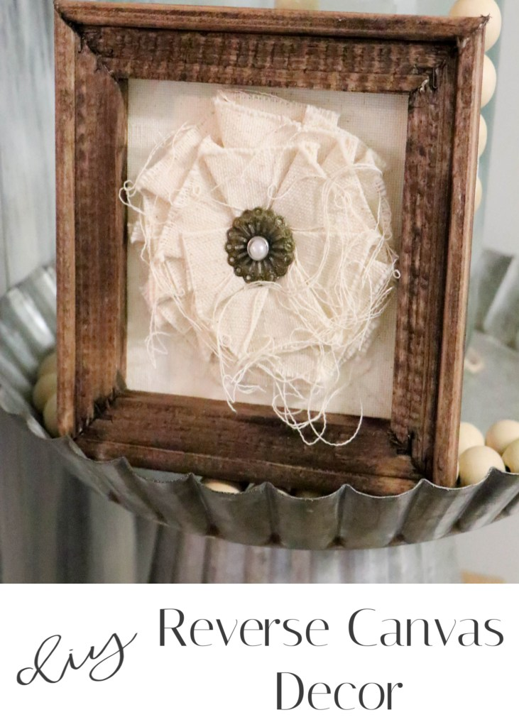 Reverse Canvas Flower Decor DIY