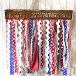 DIY Scrap Ribbon Flag