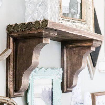 DIY Farmhouse Shelf