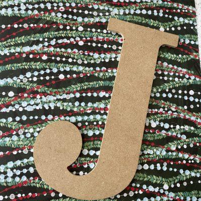 diy Christmas mod podge sign