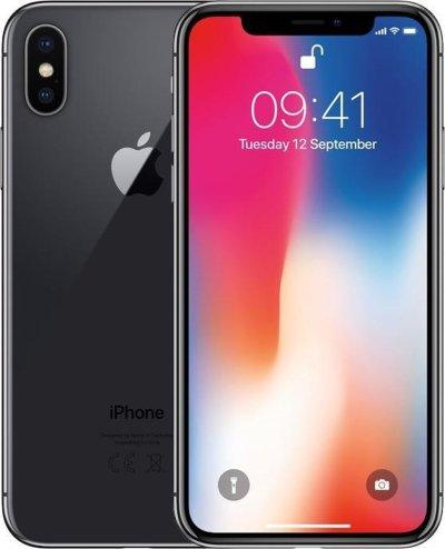 Refurbished Apple iPhone X 256GB Zwart