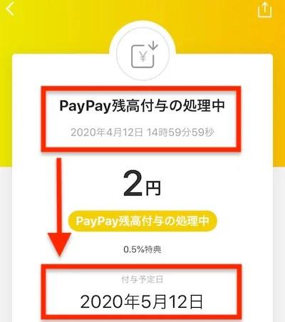 Paypay_付与日