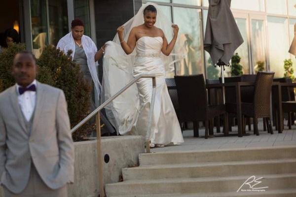 First Look Vie Wedding