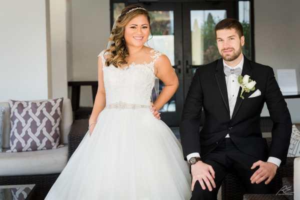 Bride and Groom at Lambertville Inn