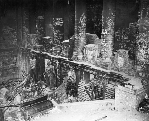 Soviet Troops Scrawled Graffiti In The Reichstag After They Took Berlin In 1945