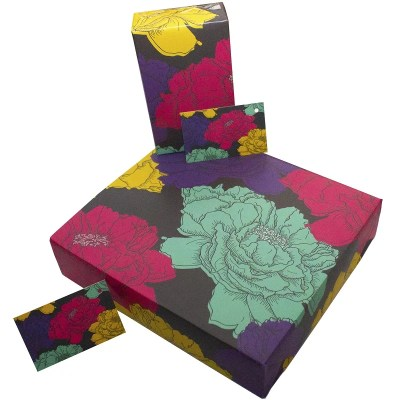 Re-wrapped: ECO Friendly Birthday Wrapping Paper Floaty Floral by Rosie Parkinson made from 100% Unbleached Recycled Paper