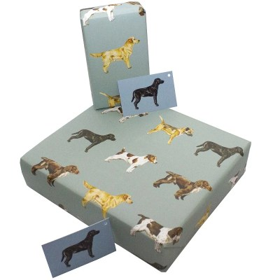 Re-wrapped: ECO Friendly Wrapping Paper Dogs by Sophie Botsford made from 100% Unbleached Recycled Paper
